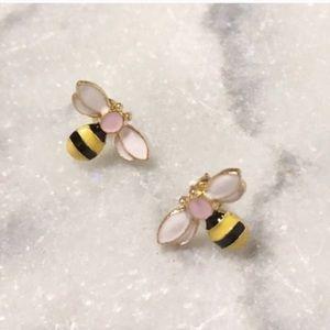 Bumblebee Bee Stud Earrings Gold Black New